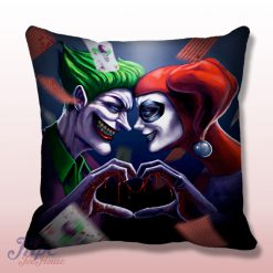 Joker and Harley Quinn Love Throw Pillow Cover