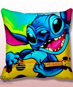 Lilo and Stitch Guitar Throw Pillow Cover