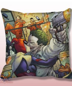 Love Joker and Harley Quinn Throw Pillow Cover