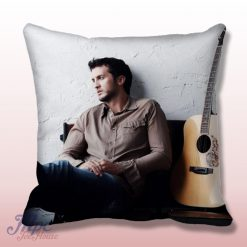 Luke Bryant Guitar Throw Pillow Cover