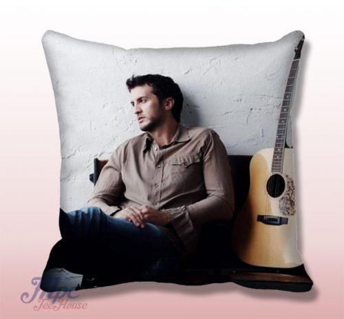 Luke Bryant Guitar Throw Pillow Cover