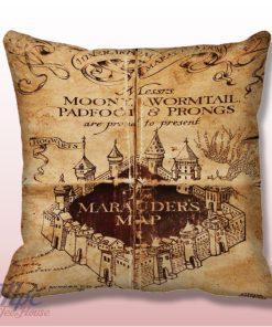 Harry Potter Marauder Map Throw Pillow Cover