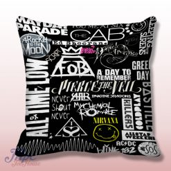 Mayday Parade Fall Out Boy Collage Pillow Cover