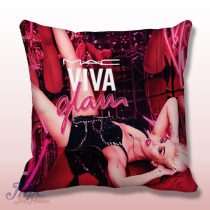 Miley Cyrus Glam Throw Pillow Cover