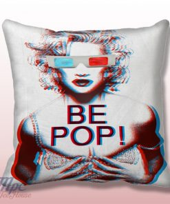 Monroe be Pop 3D Glass Throw Pillow Cover