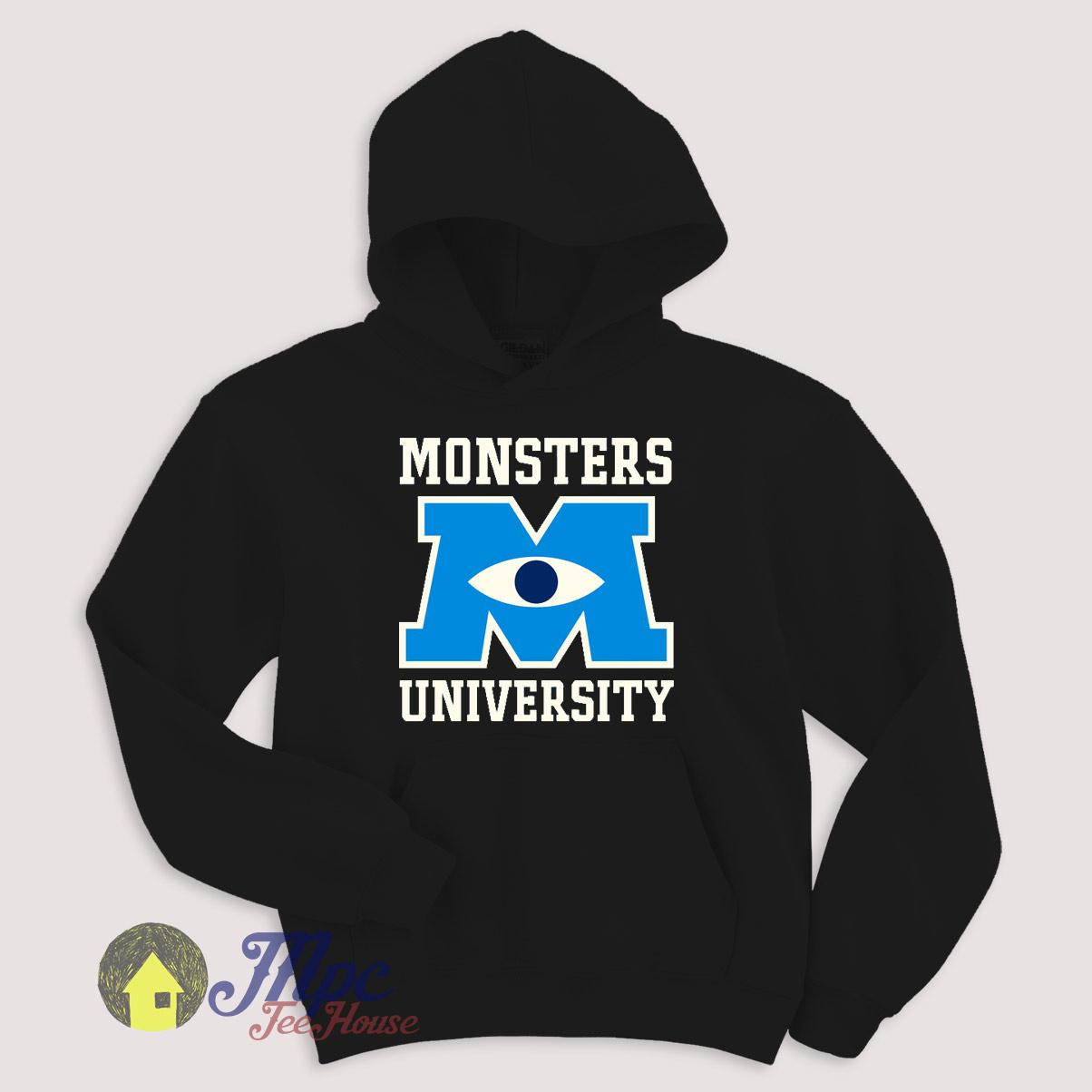 Monster University Emblem Hoodie Size S-XXL