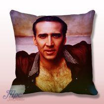 Nicolas Cage Throw Pillow Cover