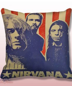 Nirvana Seattle Grunge Throw Pillow Cover