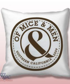 Of Mice and Mine Symbol Throw Pillow Cover