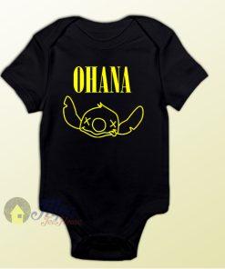 Ohana Lilo Stitch Baby Onesie