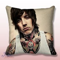 Oliver Sykes Tattoo BMTH Throw Pillow Cover
