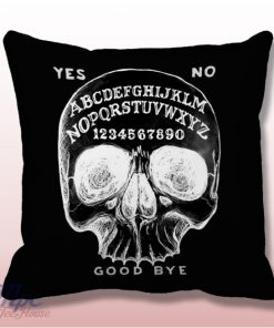 Ouija Board Skull Throw Pillow Cover
