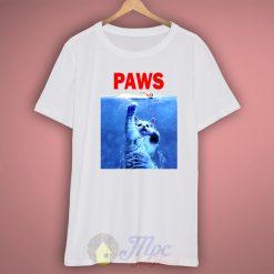 Paws Cat Jaws Parody T Shirt