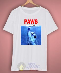 Paws Cat Jaws Parody T Shirt