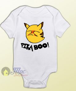Pikaboo Pokemon Pikachu Ghost Baby Onesie