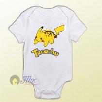 Funny Pokemon Pikachu Tacochu Baby Onesie