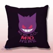Pokemon Gengar Cat Smile Throw Pillow Cover