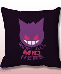 Pokemon Gengar Cat Smile Throw Pillow Cover