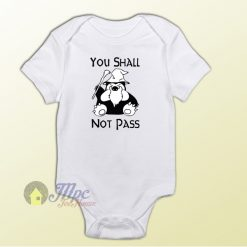 Pokemon Snorlax Quote Baby Onesie