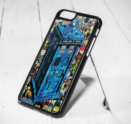 Police Box Who Comic Style iPhone 6 Case iPhone 5s Case iPhone 5c Case Samsung S6 Case and Samsung S5 Case