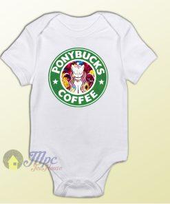 Ponybucks Starbucks Coffee Baby Onesie