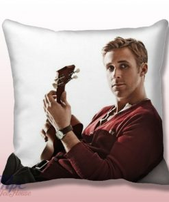 Ryan Gosling With Guitar Throw Pillow Cover