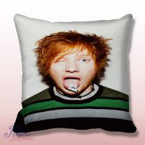 Funny Ed Sheeran Face Throw Pillow Cover