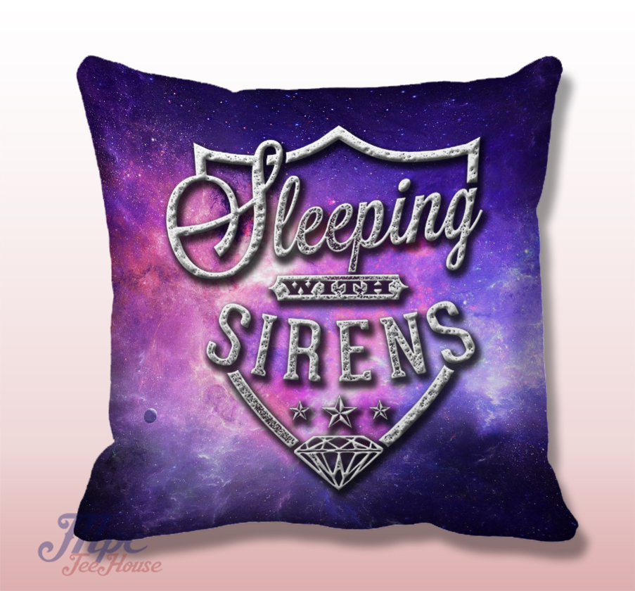 Sleeping With Sirens Symbol Throw Pillow Cover Mpcteehouse 80s Tees