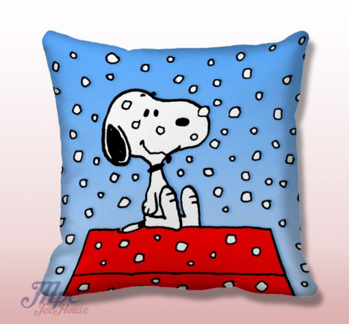 Snoopy Snow Throw Pillow Cover