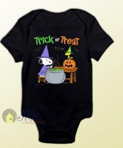 Snoopy Magic Trick or Treat Baby Onesie