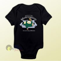 Pokemon Snorlax Motivation Quote Baby Onesie