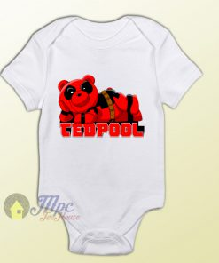 Tedpool Teddy Bear Deadpool Parody Baby Onesie