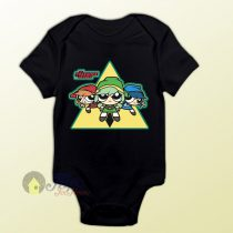 Power Puff Girls Legend of Zelda Baby Onesie