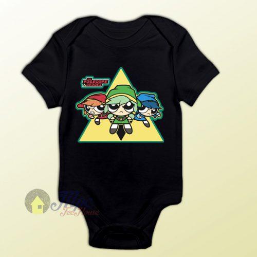Power Puff Girls Legend of Zelda Baby Onesie
