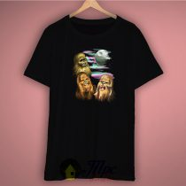 Three Ewok Chewbacca Unisex Premium T Shirt Size S-2Xl