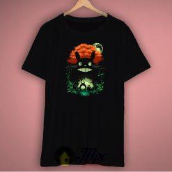 Totoro Catbus Dark Night Unisex Premium T Shirt Size S-2XL