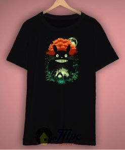Totoro Catbus Dark Night Unisex Premium T Shirt Size S-2XL