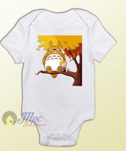 Totoro and Friend Calvin Hobbes Style Baby Onesie