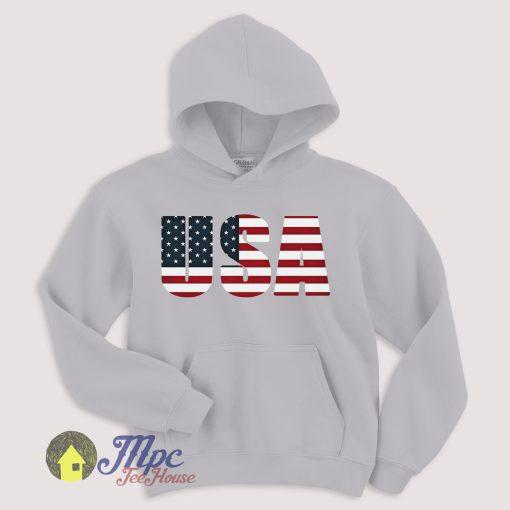 USA Flag Hoodie Size S-XXL