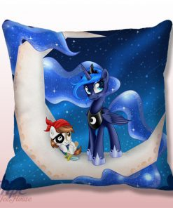 Unicorn Dash Moon Throw Pillow Cover