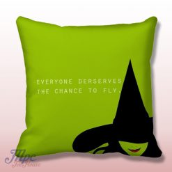 Wizard of OZ Wicked Musical Quote Throw Pillow Cover