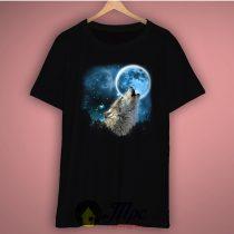 Wolf on The Moon Basic Tee