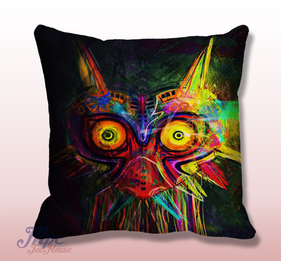 Legend of Zelda Majoras Mask Throw Pillow Cover