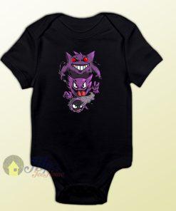 Gengar Ghost Pokemon Baby Onesie