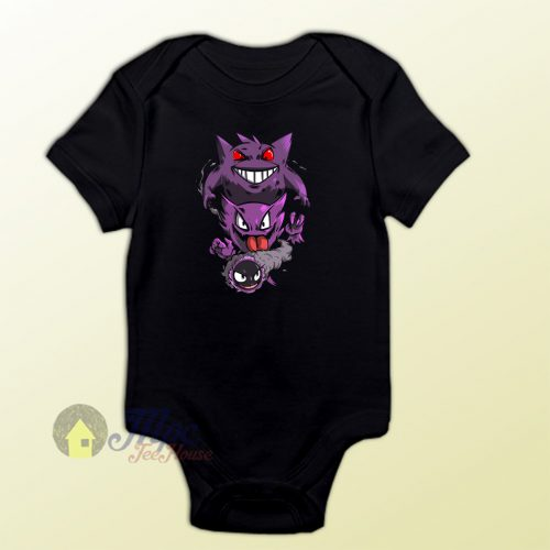 Gengar Ghost Pokemon Baby Onesie