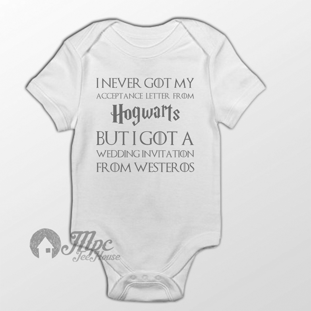 I Never Got My Acceptance Hogwarts Letter Quote Baby Onesie