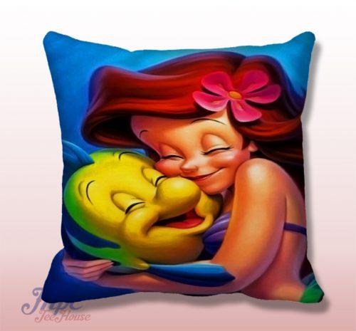 Ariel Little Mermaid Cute Throw Pillow Cover