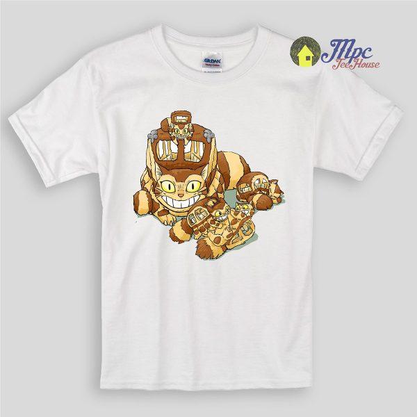 Totoro Cat Bus Baby Kids T Shirts