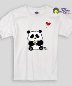 Cute Panda Sketch Kids T Shirts and Youth