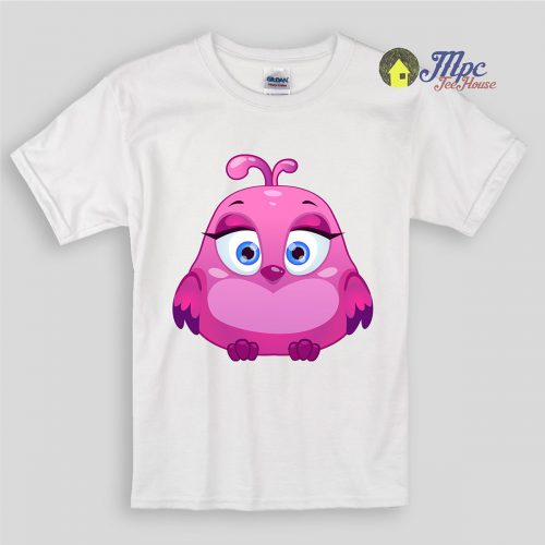 Cute Pink Owl Bird Kids T Shirts and Youth